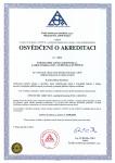 Osvědčení o akreditaci - Oddělení hodnocení životního prostředí